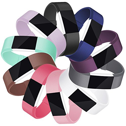 Mornex Für Fitbit Charge 2 Armband, Original Ersatzarmband Sport Fitness Watch Band Small, 10 Pack
