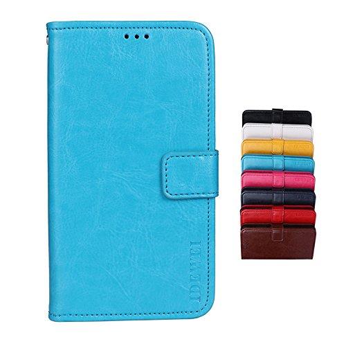 BRAND SET Hülle für TP-Link Neffos C5 Plus Brieftasche Handyhülle Kunstleder Flip Hülle mit sicherer Magnetverschlussverriegelung & Stent-Funktion Handyhülle für TP-Link Neffos C5 Plus(Blau)