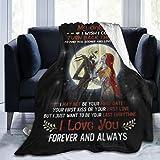 Talcholar Jack and Sally My Only Love Ultra Soft Throw Blanket Flannel Fleece All Season Light Weight Warm Blanket,80'X60'