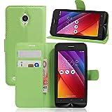 Ycloud Etui Housse Coque pour ASUS ZenFone Go ZC500TG (5.0pouce), Portefeuille Premium PU Cuir Carte...