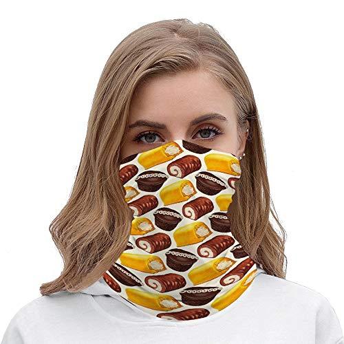 Hostess Tortenmuster Socken Halloween-Outfit Rave Gesichtsmaske Stirnband Bandana Mundschutz Haarbänder Halstuch für Damen und Herren