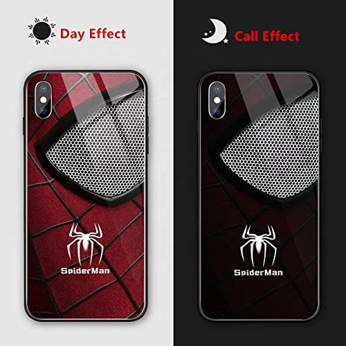SanlosureTech iPhone 11 Case | Led Light Incoming Call and Text Reminder | Case for iPhone 11 | Voice Activation | Shock Proof | Scratch Proof | Spiderman | Red