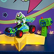 DICKIE 201134004 Toy Story Buggy with Buzz Figure, RC Car with Turbo Function, 1:24, 20 cm, Green/Wh...