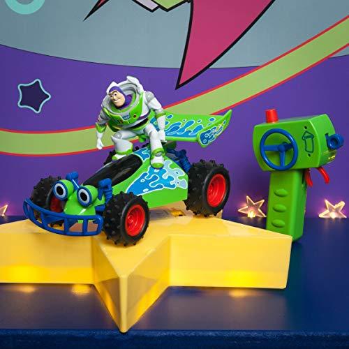 Dickie Coche teledirigido Toy Story Buggy con Figura de Buzz de Juguete teledirigido con función Turbo, 1:24, 20 cm