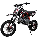 X-PRO 125cc Dirt Bike Pit Bike Gas Dirt Bikes Dirt Pitbike 125cc Gas Dirt Pit Bike (Black)
