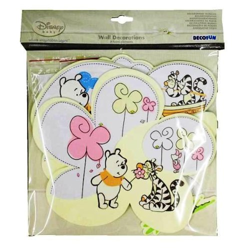 Decofun Stickers Winnie l'ourson en Mousse Mur Art décorations