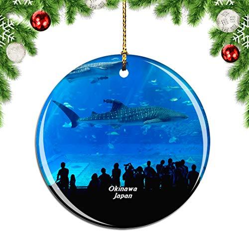 Weekino Churaumi Aquarium Okinawa Japan Weihnachtsdekoration Christbaumkugel Hängender Weihnachtsbaum Anhänger Dekor City Travel Souvenir Collection Porzellan 2,85 Zoll