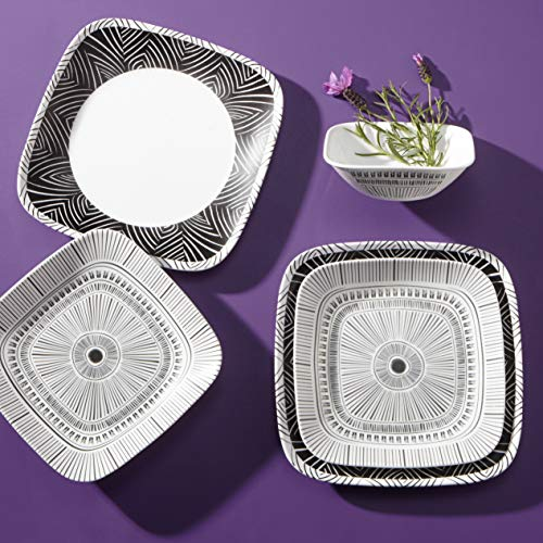 Corelle Service for 6, Chip Resistant Dinnerware Set, 18-Piece, Imani