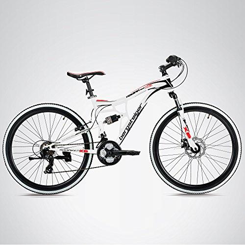 Bergsteiger Kodiak 24 Zoll Kinderfahrrad, geeignet für 8, 9, 10, 11 Jahre, Scheibenbremse, Shimano 21 Gang-Schaltung, Mountainbike mit Vollfederung, Jungen-Fahrrad - 3