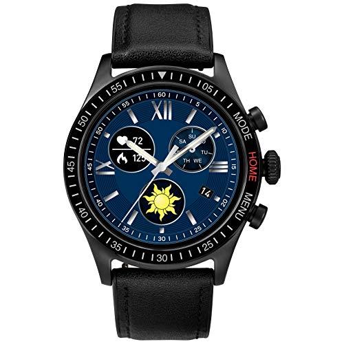 iConnect By Timex Herren Pro 43 mm Smartwatch mit Herzfrequenz, Benachrichtigungen und Aktivitäts-Tracking schwarz