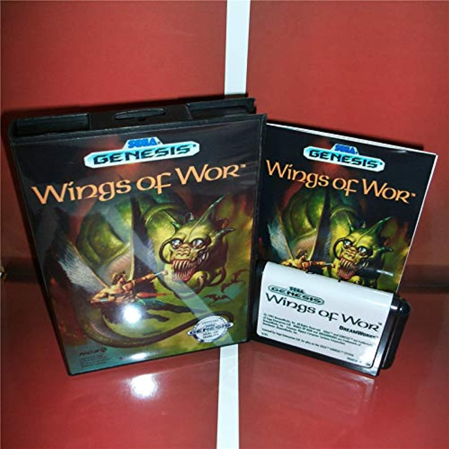 ValueSmartToys  Wings of Wor US Cover with Box and Manual for Sega Megadrive Genesis Video Game Console 16 bit MD Card