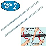 1/2 Inches Diameter x 18 Inches Long Torsion Spring Winding Rods, Garage Door Winding Bars, Use for Adjusting or Replacing Garage Door Tension Springs