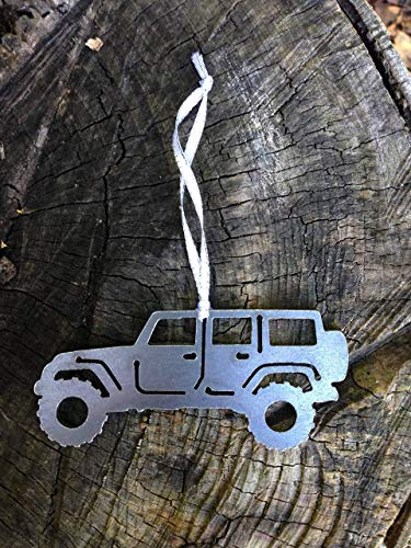 Metal off road Christmas Ornament perfect for 4 door jeep owners