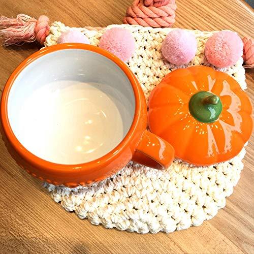 Kreative Tasse 3D Keramik Becher niedlichen Kürbis Tassen Kaffeetassen Milch mit Deckel lustige personalisierte Startseite Morgen Cup festliche Halloween Weihnachtsgeschenk