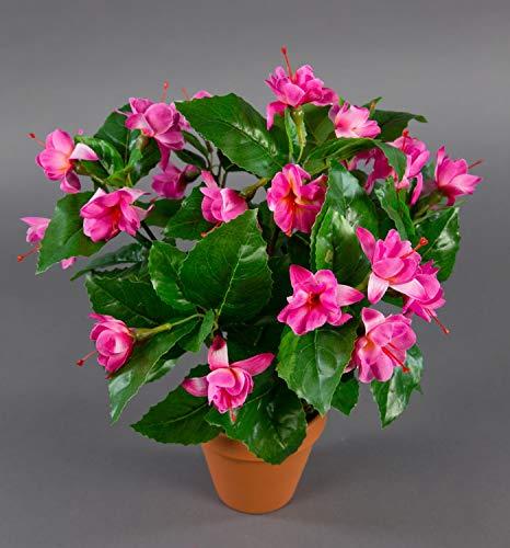 Fuchsien/Fuchsia 40cm rosa-pink im Topf ZF künstliche Pflanzen Kunstpflanzen Kunstblumen