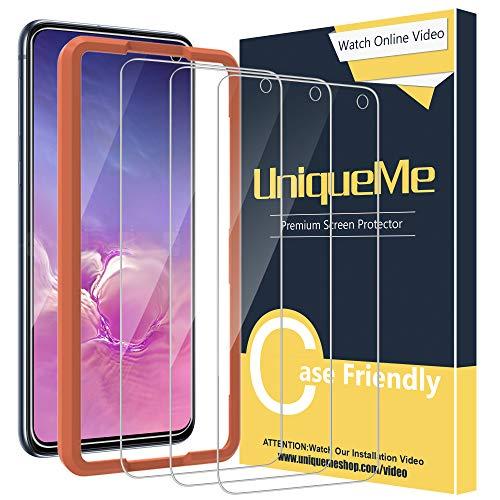 UniqueMe [3 pièces Verre Trempé Compatible avec Samsung Galaxy S10e, Film Protection écran [sans Bulles][9H Dureté] Vitre