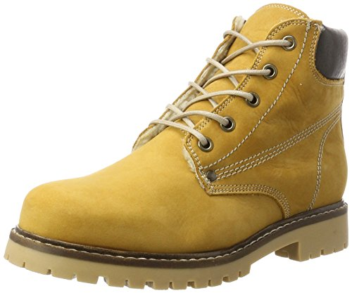 Bianco Damen Warm Worker Chukka Boots, Gelb (Mustard), 36 EU