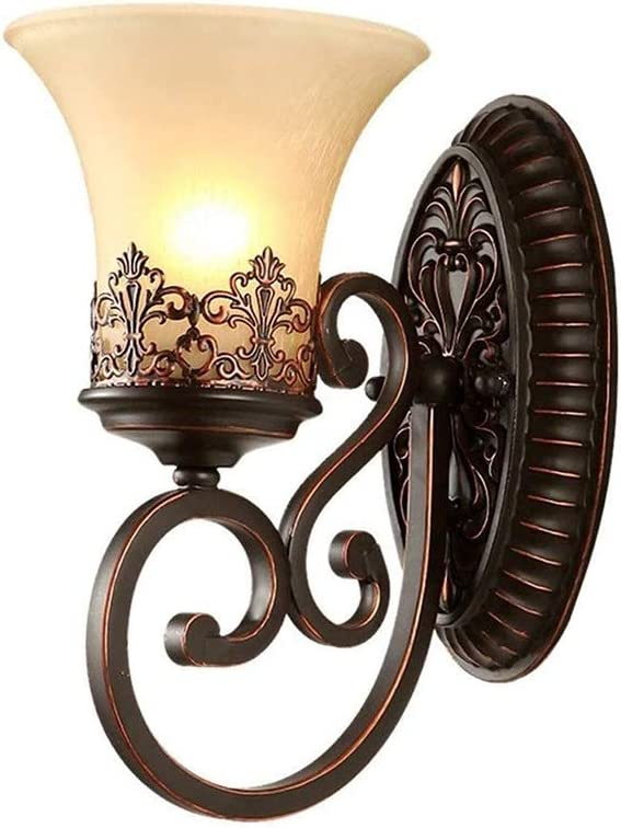 GYZLZZB Led Seattle Mall Lights for Bedroom Retro Indoor Glass Outlet sale feature Wr Wall Lamp