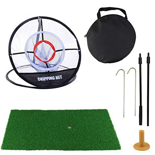 GABraden Golf Net Collapsible Golf Chipping Net and Golf Hitting Mat,Pop Up...