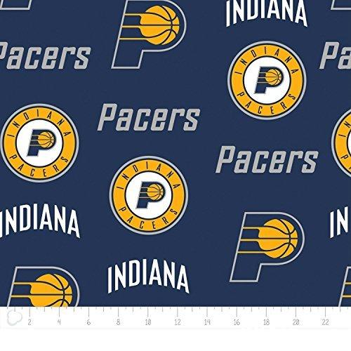 Fleece Indiana Pacers NBA Basketball Blue Fleece Fabric Print by The Yard