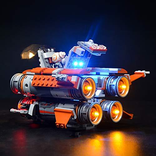 QXQY Led Beleuchtungsset für Lego 75178 Star Wars Jakku Quadjumper,LED Licht Kit Kompatibel Mit Lego Star Wars Jakku Quadjumper 75178(NUR Licht Set)