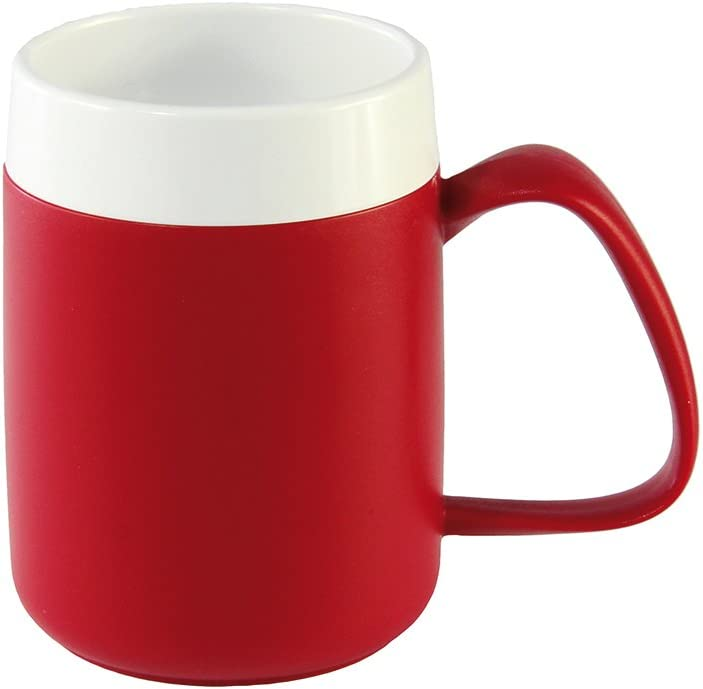 NRS Healthcare Ranking TOP18 Easy Drink Thermo Safe and Eligib White Mug Red Direct sale of manufacturer