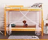 Tofover Moustiquaire, lit superposé Cryptage filets Moustiquaire ciel de lit carré Filet pour rideaux protection contre les...