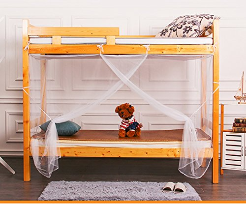 Tofover Mosquito Net, Bunk Bed Encryption Nets Bed Canopy Fly Screen Square Netting Curtains Insect Protection Repellent Shield for Home & Travel (90190150cm)
