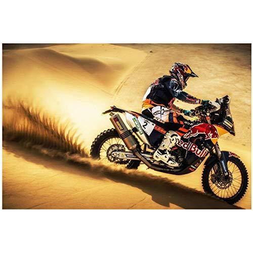 OAQAT Rally Moto Sport Lienzo Cuadros artísticos de Pared para decoración de la Pared del hogar Carteles Impresos en el Lienzo para...