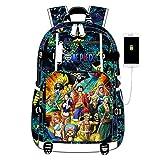 GO2COSY Anime One Piece Backpack Daypack Student Bag School Bag Laptop Bag Bookbag