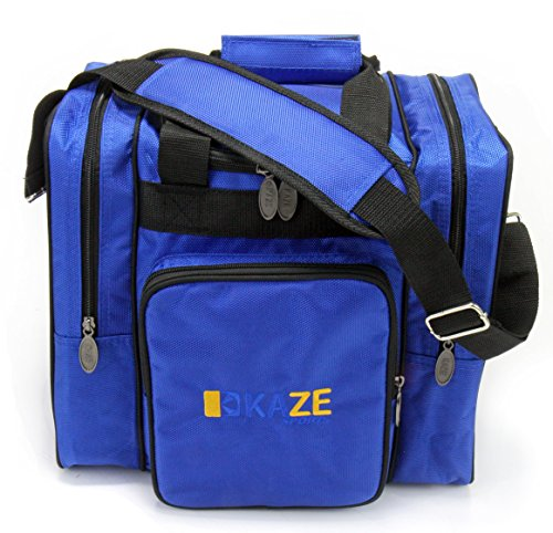 KAZE SPORTS Deluxe Bowling Bag for Single Ball - Tote Bag with Two Side...