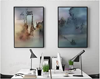 Modern decorations 2 pieces Abstract Nordic Style Wall Art Canvas Paintings Painted Architecture Poaters and Prints for Li...