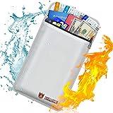 Bolsa de documentos ignífuga con revestimiento de silicona, resistente al fuego, con cierre de cremallera, resistente al agua, para guardar dinero, documentos, joyas y pasaportes