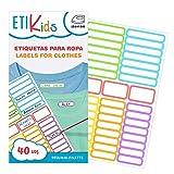 ETIKIDS 40 Etiquetas para ropa personalizables para la guardería y colegio, de...