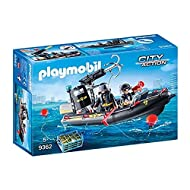 Playmobil City Action 9362 SWAT Boat, Floats On Water for Children Ages 5+