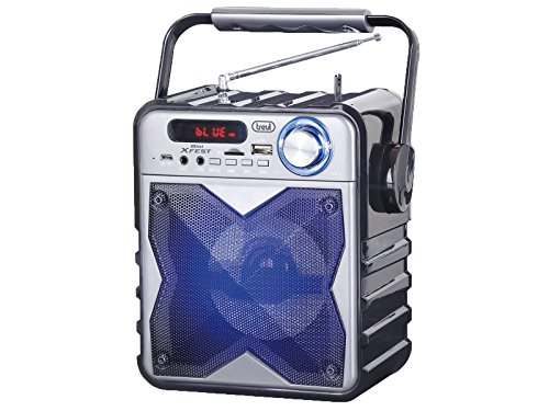 Trevi XFEST XF 100 Altoparlante Amplificato Portatile con Mp3, USB, Bluetooth e Batteria Integrata, Karaoke Party Speaker con Microfono ad Archetto