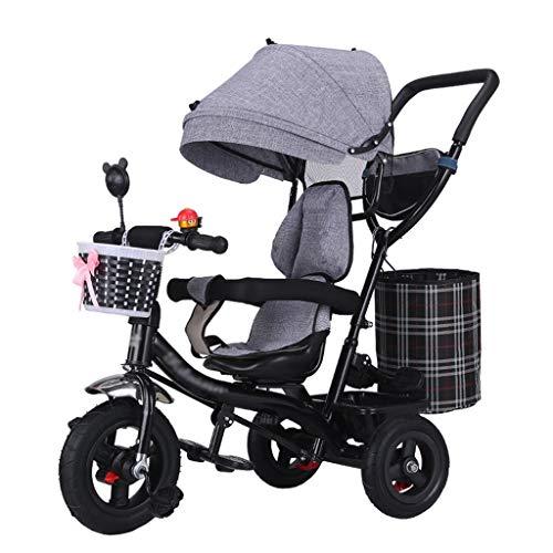 Best Price 4-in-1 Children's Stroller Trike Bike High Carbon Steel Frame Kids' Trolley with Anti-UV ...