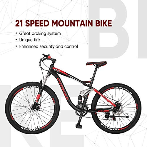 51R2kmnhc1L Outroad Fat Tire Mountain Bike