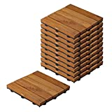 Low maintenance, easy to clean with a broom and water hose. Perfect for gazebos, patios, pool sides, concrete, lawn, either hard surface or semi-hard surfaces NATURAL: Wooden deck tiles are made from 100% solid Teak wood and then sanded and oiled for...