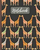 Notebook: Cute Giraffes Kissing Cartoon Cover - Lined Notebook, Diary, Track, Log & Journal - Gift for Boys Girls Teens Men Women (8'x10' 120 Pages)