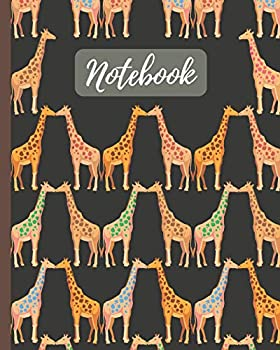 Notebook  Cute Giraffes Kissing Cartoon Cover - Lined Notebook Diary Track Log & Journal - Gift for Boys Girls Teens Men Women  8 x10  120 Pages