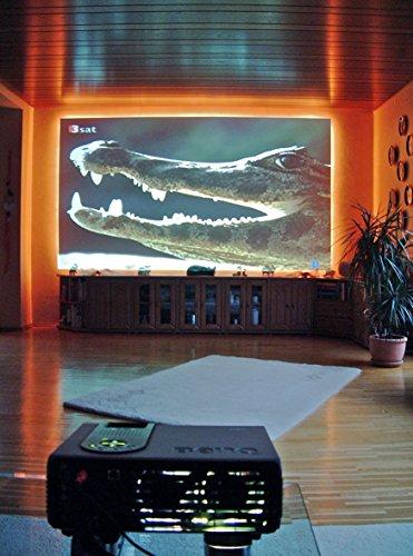 Projektionsleinwand | Selbstklebende Projektionsfolie | Rollenbreite 126 cm | Typ ST-LAN-F