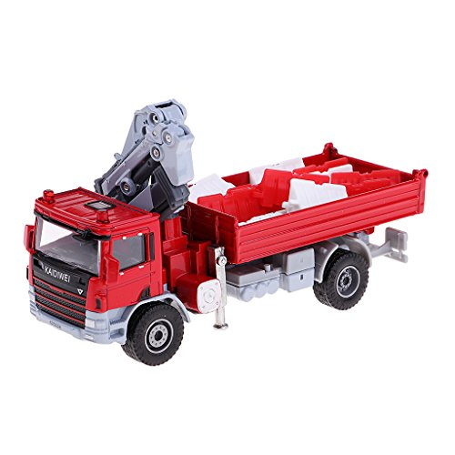 SM SunniMix 1/50 Juquetes de Coche de Transporte Camión Tanque de Aceite en Miniatura Regalo para Chicos - Camión grúa 13.9x4.8x7.8cm