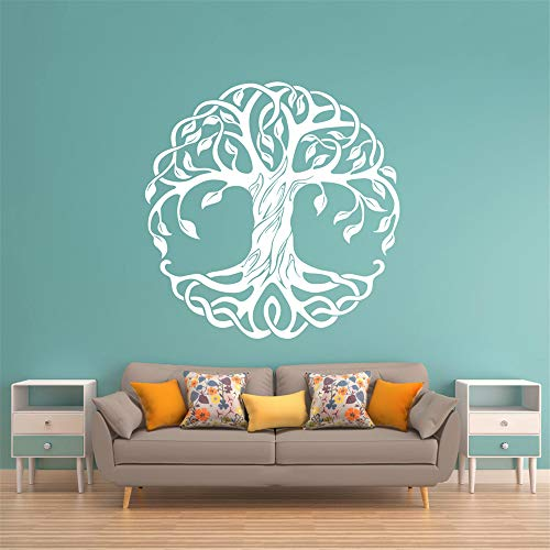 wandaufkleber 3d Wandtattoo Wohnzimmer Baum Abziehbilder Schlafzimmer Dekor Baum Baum des Lebens Abziehbild kosmischen Baum Mandala Abziehbild Wand Schablone