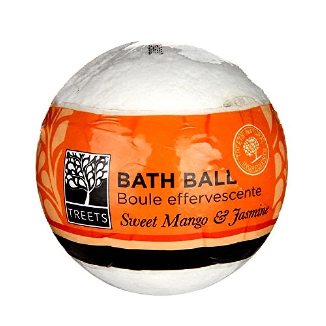 不注意蜂飼い慣らすTreets甘いマンゴーとジャスミンバスボール - Treets Sweet Mango and Jasmine Bath Ball (Treets) [並行輸入品]