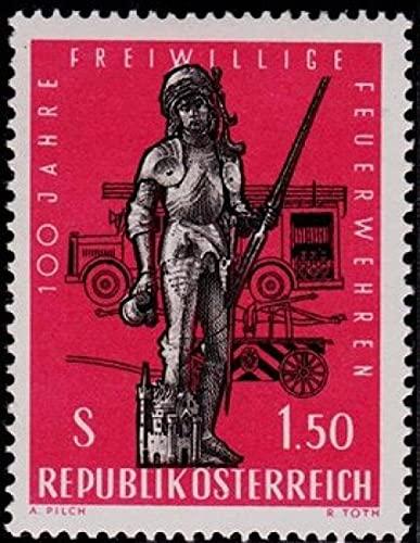 FGNDGEQN Colección de Sellos Bielorrusia Sello Austriaco 1963 Volunteer Fire Team 100 años Saint Fary Save Train Talling Edition 1