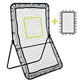 Victorem Lacrosse Rebounder - 6x3.5 Ft. Bounce Back, Pitch Back Rebounder for Lacrosse, Baseball and Softball Training with Extra Net and Additional Straps