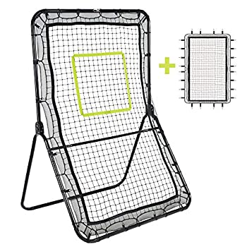 Victorem Lacrosse Rebounder - 6x3.5 Ft Bounce Back Pitch Back Rebounder for Lacrosse Baseball and Softball Training with Extra Net and Additional Straps