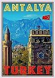 StickIt2Me Antalya Türkei Art Deco Retro Reise Poster A3