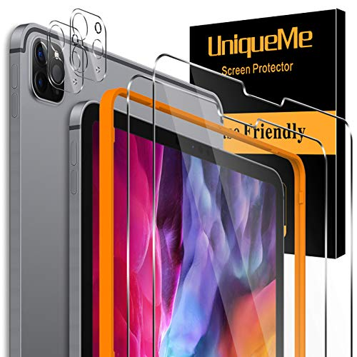 [4 Pack] UnqiueMe Schutzfolie für iPad Pro 2020 12.9